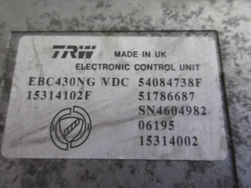 Centralina Abs TRW EBC430NG 15314102F 54084738F 51786687 Alfa Romeo  159 del 2006 2387cc.   da autodemolizione