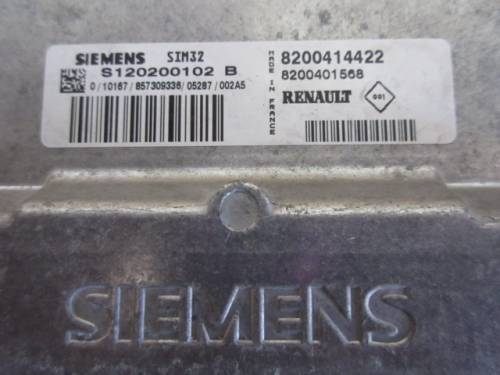 Centralina Motore Siemens SIM S120200102B 8200414422 8200401568 Renault  Modus del 2006 1149cc.   da autodemolizione