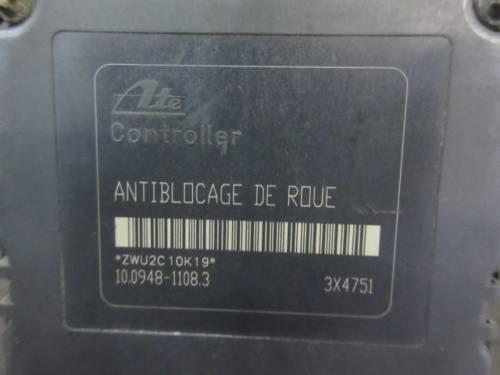 Centralina Abs Ate 10020806902 10020401944 9632539480  Peugeot  206 del 2002 1997cc. HDI  da autodemolizione