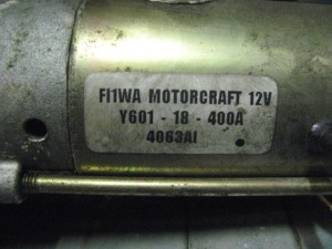 Motorino Avviamento FI1WA MOTORCRAFT 12V Y601 18 400A 4063AI  Mazda  3 del 2004 1560cc.   da autodemolizione