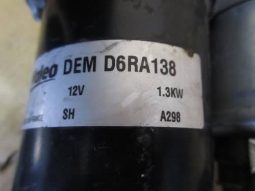 Motorino Avviamento  Valeo 46835094 03587 11G8 0011 D6RA138 DEM D6RA13 Fiat  Stilo del 2003 1600cc.   da autodemolizione