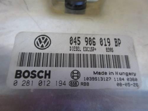 Centralina Motore Bosch 0281012194 045906019 BP  Volkswagen  Polo del 2008 1422cc. TDI  da autodemolizione