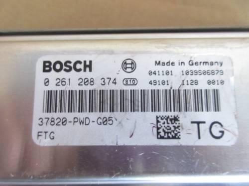 Centralina Motore Bosch 0261208374 041101 1039S06879 4910111280010 3 Honda  Jazz del 2005 1246cc.   da autodemolizione