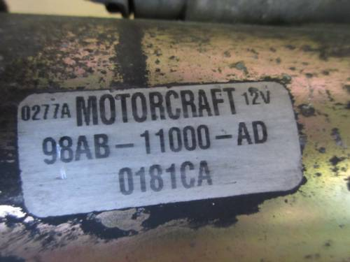 Motorino Avviamento  Motorcraft 0277A 98AB 11000AD 0181CA 12V  Ford  Fiesta del 2000 1753cc.   da autodemolizione