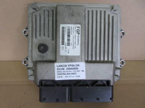 Centralina Motore Magenti Marelli 55195819 4N0S7ZN7E 7160000703 4G17 Lancia  Ypsilon del 2004 1248cc. MJET  da autodemolizione
