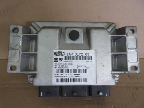 Centralina Motore  Magneti Marelli IAW 6LP203 5P8B3CLCF 35505 6LP2CE Peugeot  206 del 2006 1400cc. 16v  da autodemolizione