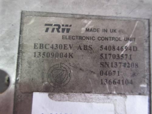 Centralina Abs  TRW EBC430EV 13509004K 54084694D 51703571 SN13742 Lancia  Ypsilon del 2004 1248cc. MJET  da autodemolizione