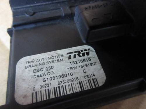 Centralina Abs  TRW 13216610 13091807 EBC 430 S108196010 C AE3025 Daewoo  Matiz del 2003 995cc.   da autodemolizione