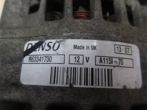 Alternatore Denso R63341730 A115-70 Ford  Fiesta del 1998 1753cc.   da autodemolizione