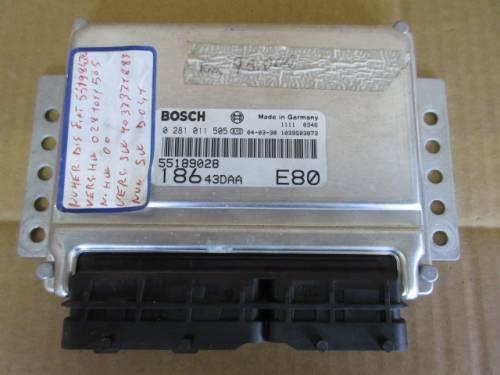 Centralina Motore Bosch 0281011505 55189028 18643DAA 1039S03873 Da Fiat  Multipla del 2004 1910cc. JTD Usata da autodemolizione