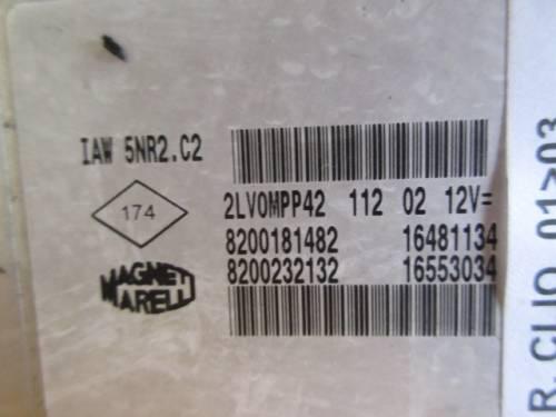 Centralina Motore Magneti Marelli IAW 5NR2 C2 2LV0MPP41 11202 820018 Renault  Clio del 2002 1149cc.   da autodemolizione