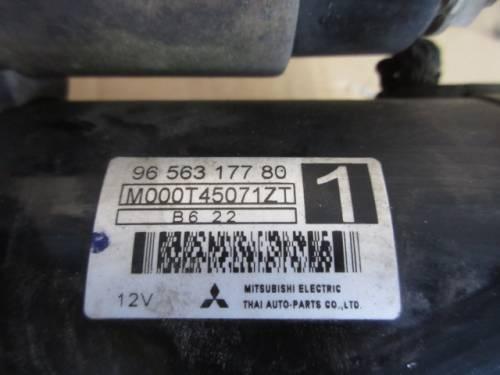 Motorino Avviamento Mitsubishi 9656317780 M000T45071ZT B622 Citroen  C2 del 2006 1360cc. VTR  da autodemolizione