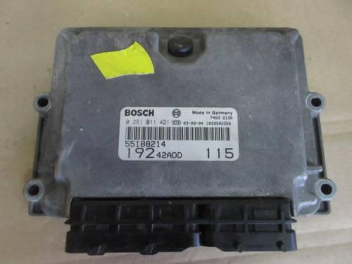 Centralina Motore Bosch 0281011421 55188214 19242ADD 746321378 Da Fiat  Stilo del 2003 1910cc.  Usata da autodemolizione
