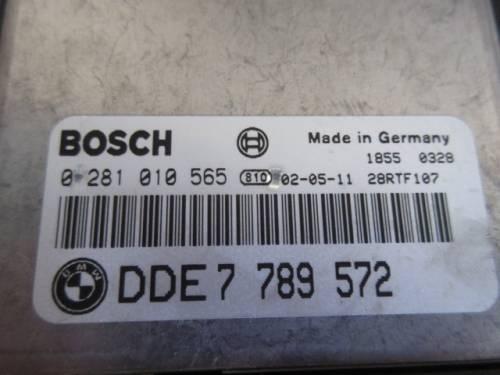 Centralina Motore Bosch 0281010565 DDE7789572 18550328 Bmw  320 del 2002 1995cc.   da autodemolizione