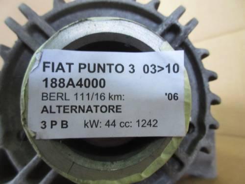 Alternatore Denso 51714794 C132328052 MS1022118430 A11SIM 14V  Fiat  Punto del 2006 1242cc. 8v  da autodemolizione