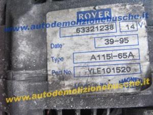 Alternatore ROVER A115I-65A Rover  416 del 1996 1600cc.   da autodemolizione