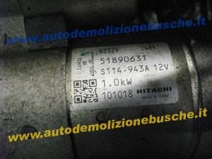 Motorino Avviamento HITACHI 82329 C489 51890631 S114 943A Lancia  Ypsilon del 2011 1242cc.   da autodemolizione