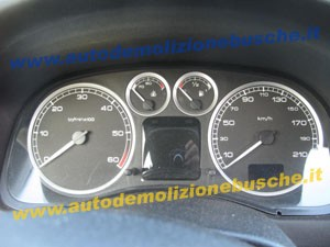 Quadro Strumenti Peugeot  307 del 2005 2000cc.   da autodemolizione