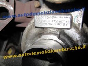 Turbina GARRET GT1544 7700108030 7700107795 700830 Renault  Megane del 2000 1870cc.   da autodemolizione