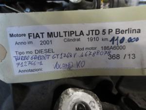 Motore 186A6000 Fiat  Multipla del 2001 1910cc.   da autodemolizione