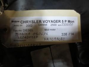 Motore Chrysler  Voyager del 2002 2500cc. VM07C  da autodemolizione