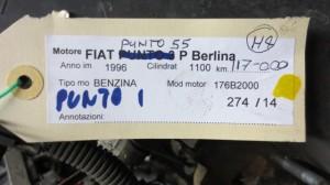 Motore 176B2000 Fiat  Punto 55 del 1996 1100cc.   da autodemolizione