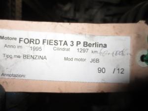 Motore J6B Ford  Fiesta del 1995 1297cc.   da autodemolizione