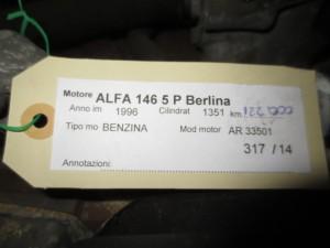 Motore AR 33501 Alfa Romeo  146 del 1996 1351cc.   da autodemolizione
