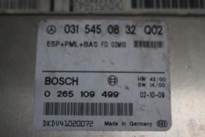Centralina Abs 0265109499 Mercedes-Benz  E 270 del 1999 2700cc.   da autodemolizione
