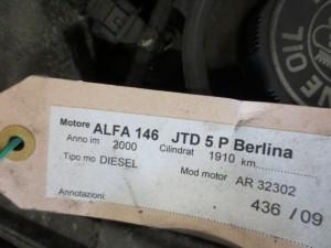 Turbina Garrett GT B858  46756155 Alfa Romeo  146 del 2000 1910cc.   da autodemolizione