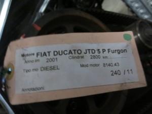 Turbina Iveco P/N 500341801 MED 49377-07050 Fiat  Ducato del 2001 2800cc.   da autodemolizione