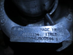 Turbina GARRETT 46798334 715665 1 gjb00344 Alfa Romeo  147 del 2003 1910cc. JTD 16V.  da autodemolizione