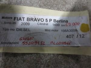 Turbina Garrett 55209152 MC200566 Fiat  Bravo del 2009 1600cc.   da autodemolizione