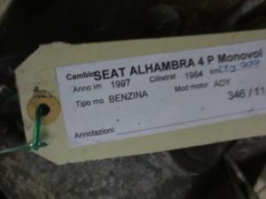 Cambio 957T-7F090 Seat  Alhambra del 1997 1984cc.   da autodemolizione
