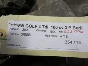 Cambio Volkswagen  Golf 4 del 2003 1900cc. tdi 100cv  da autodemolizione
