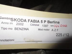 Cambio VW AG 226 8031 20 220 301 107 T Skoda  Fabia del 2002 1397cc.   da autodemolizione