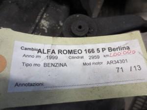 Cambio Alfa Romeo  166 del 1999 2959cc. V6  da autodemolizione
