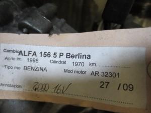 Cambio  0 5 10 Alfa Romeo  156 del 1998 1970cc.   da autodemolizione
