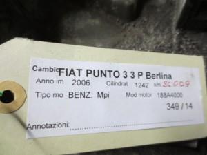 Cambio Fiat  Punto del 2006 1242cc. punto 3  da autodemolizione