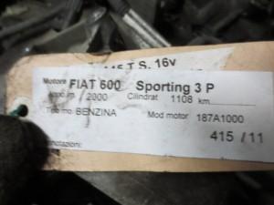 Cambio Da Fiat  Seicento del 2000 1108cc.  Usato da autodemolizione