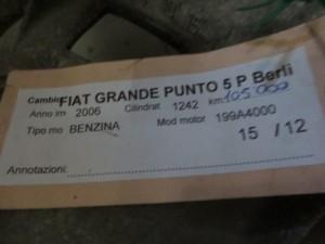 Cambio Fiat  Grande Punto del 2006 1242cc.   da autodemolizione