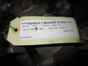 Cambio 600037 Renault  Megane Scenic del 1997 1600cc.   da autodemolizione