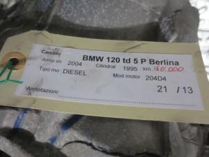 Cambio 0069374BEO Getrag  1069401052 Bmw  118 del 2004 1995cc.   da autodemolizione