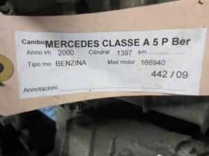 Cambio A168362000 00473978 16836020000047397804 R16836104 Mercedes-Benz  A 140 del 2000 1397cc.   da autodemolizione