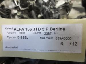Cambio Alfa Romeo  166 del 2001 2387cc.   da autodemolizione