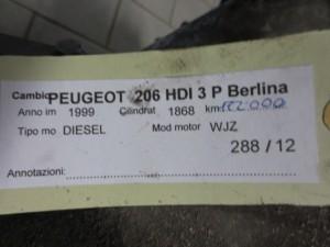 Cambio Peugeot  206 del 1999 1868cc.   da autodemolizione