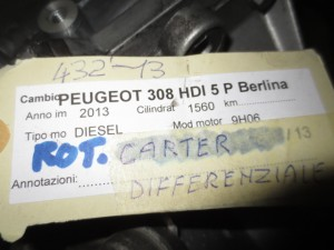 Cambio 9680886910 HZ23  Peugeot  308 del 2013 1560cc.   da autodemolizione