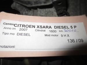 Cambio 680886910 20DP29 1245731 Da Citroen  Xsara Picasso del 2007 1600cc. HDI Usato da autodemolizione