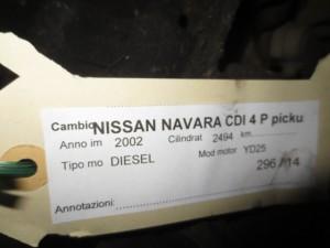 Cambio Da Nissan  Navara del 2002 2494cc. CDI Usato da autodemolizione