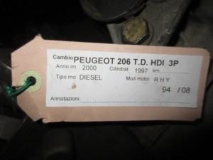 Cambio Peugeot  206 del 2000 1997cc.   da autodemolizione